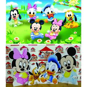 Kit Cenário Display Chão Baby Disney 8 Peças + Painel 2x1,40
