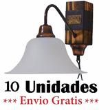 10 Unid. Aplique De Pared Madera Y Cuero Envio Gratis