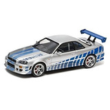 1/43 Rápido Y Furioso 1999 Nissan Skyline Gt-r Silv Por Gre