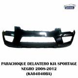 Parachoque Delantero Kia Sportage Negro 2008-2012