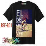 Camiseta Ecológica Cicla Bicicleta Artística