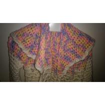 Saco Tejido Al Crochet Para Nena