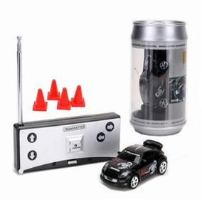 Mini Carro Lata Controle Remoto Carrinho Rc Brinquedo Cone