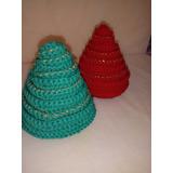 Arbolito De Navidad Tejido Crochet - Adorno Navideño