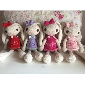 Conejo Al Crochet (amigurumi) Personalizada