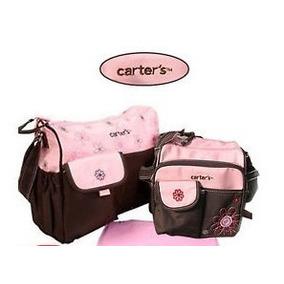 Bolso Maternal Carters Set 3 Piezas Rosa O Azul Bebe Rn