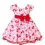 Vestido Infantil Festa Luxo Moranguinho Com Tiara