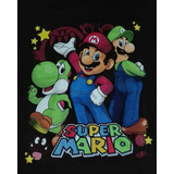 Polera Talla 11 - 12 De Mario Bros ( 44 Ancho 59 Largo)