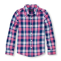 Camisa Casual Manga Larga Niño Talla 14 Childrens Place