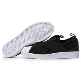 adidas Original Zapatilla Mujer Superstar Slip-on Negro