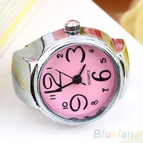 Relógio Anel De Dedo Elástico Prata - Acessórios Feminino