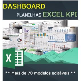Planilhas Dashboard Excel Kpi - Mais De 70 Modelos Editaveis