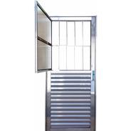 Porta Postigo De Alumínio Brilhante 2,10 X 0,80 Direita