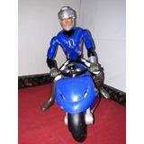 Muñeco Max Stell Con Moto Como Nuevo Sin Uso Exhibicion