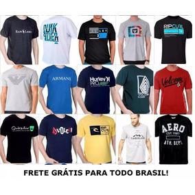 Kit 10 Camisetas Camisas Masculinas Baratas Marcas Famosas