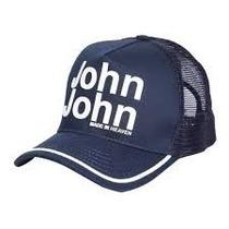 Boné John John Azul Marinho Com Branco Original