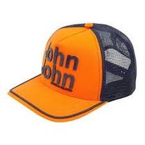 Boné John John Laranja Com Azul Marinho Original