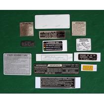 Adesivos Advertência Honda Cbx 750f 87 Originais