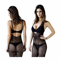 Vestido Arrastão Transparente Sexy Body Le Cher - Tulipe