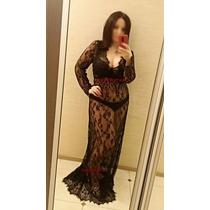 Vestido Sexy Renda Bordado Noiva Núpcia Casamento Gestantes