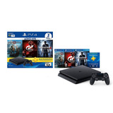 Sony Ps4 Slim 1 Tb Hits Bundle Con 3 Juegos A Msi