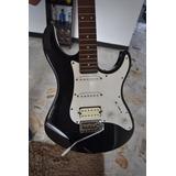 Guitarra Eléctrica Yamaha Negra Con Blanco Eg 112