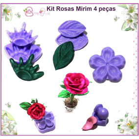Kit Frisadores 4 Peças Rosa Conjugada Mirim