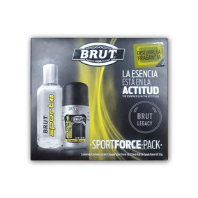 Sport Force Pack Locion 100ml + Roll On 50g Brut Legacy