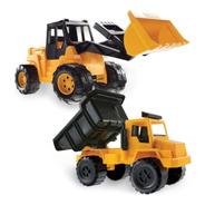 Set X2 Constructor Duravit Excavadora Grande Camion Volcador