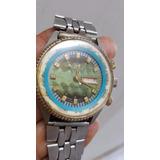 Reloj Seniko Automatico Made In Swis Con Horario Mundial