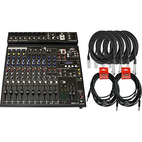 Peavey Pv 14 At 12 Canales Auto Tune Mixer W / 6 Cables
