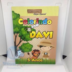 Livrinho Para Colorir Personalizada Circo, Safari, Bailarina