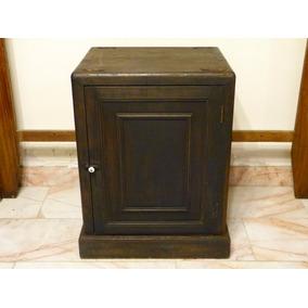 Mueble Antiguo De Madera Para Base De Caja Fuerte Mosler