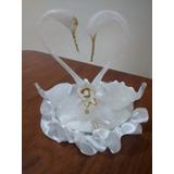 Pareja De Cisnes En Vidrio Souvenirs,casamientos,15 Años