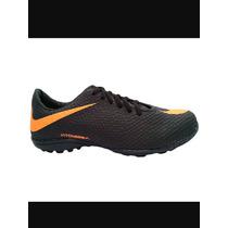 Chuteira Society Nike Hypervenom Preto E Laranja