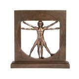 Vitruvian Man De Leonardo Da Vinci De 23cm Acabado En Bronce