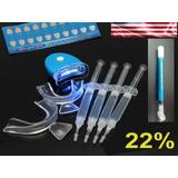 Kit Clareamento Dental Whitenes 4gel22%clareador+reminerador