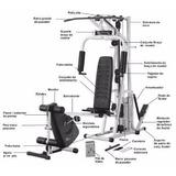 Estação Aparelho Musculação Athletic Way 2001 + Bike + Step