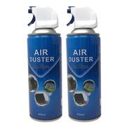Aire Comprimido Aerosol 400 Ml Para Limpiar Pc X2