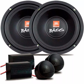 Kit Jbl 62v4a 2 Subwoofer 6 Pol 140w 2 Tweeter 2 Crossover