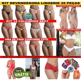 Kit Lingerie Revendedora Com 35 Lindas Lingeries Sensuais