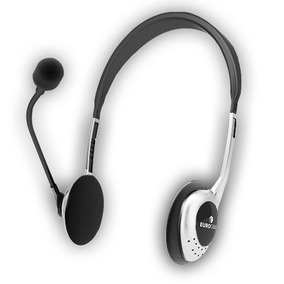 Auricular Con Micrófono Euhp-005 Atenas Eurocase Blanco T.o