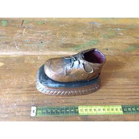 Zapato Recuerdo De Bebe Con Baño De Bronce
