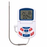 Termómetro Y Timer Con Alarma Y Reloj