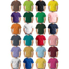 Kit 100 Camisetas Lisas Várias Cores Tamanhos Frete Grátis!