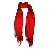 Bufanda Con Chal De Pashmina Premium - Rojo