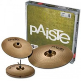 Paiste 201 Universal Set Hi-hat 14+ Crash 16+ Ride 20 Bronce