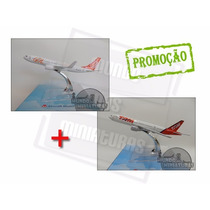 Avião Miniatura Boeing 737-800 Gol + 777-300 Tam - Em Metal
