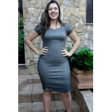 Vestido Moda Evangélica E Gestante Plus Size Em Poliamida
