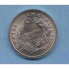 Turquía, Moneda De 500.000 Liras Del 2002 - Km#1161 - Oveja